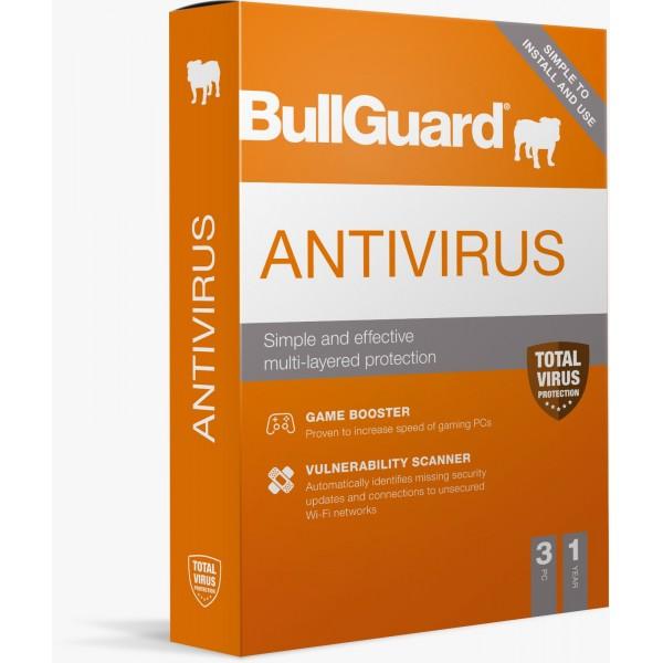 BullGuard Antivirus 2021 - 1 Yıl / 3 Kullanıcı (WIN)