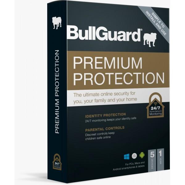 BullGuard Premium Protection 2021 - 1 Yıl / 5 Kullanıcı (Multidevice)