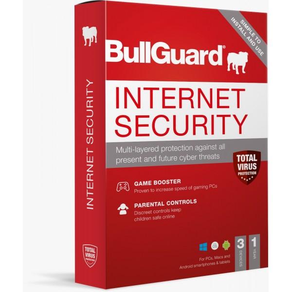 BullGuard Internet Security 2021 - 1 Yıl / 3 Kullanıcı (Multidevice)