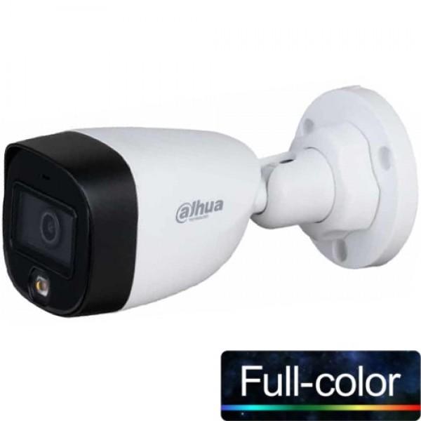DAHUA (HAC-HFW1209C-LED-0360B) 1/2.8 2MP 3.6MM 1080P HDCVI FULL COLOR 4IN1 IP67 METAL BUL. KAM.-20MT