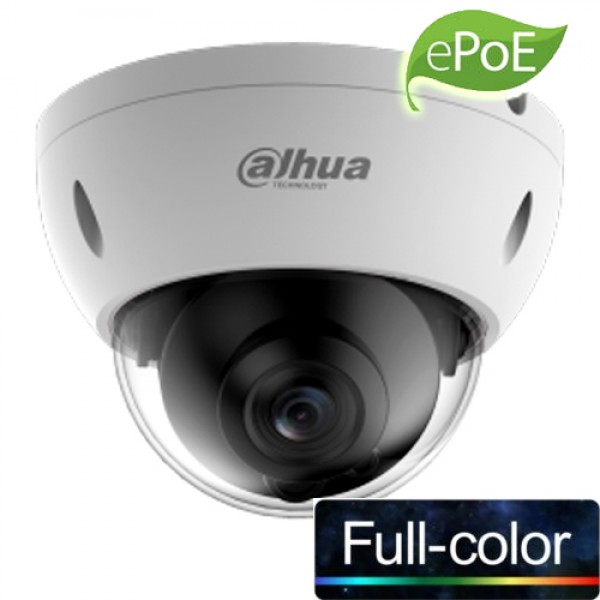 DAHUA (IPC-HDBW4239R-ASE-NI-0360B) 1/2.8 CMOS 2MP 3.6MM IP67 IK10 e-POE METAL DOME FULL COLOR IP KAM
